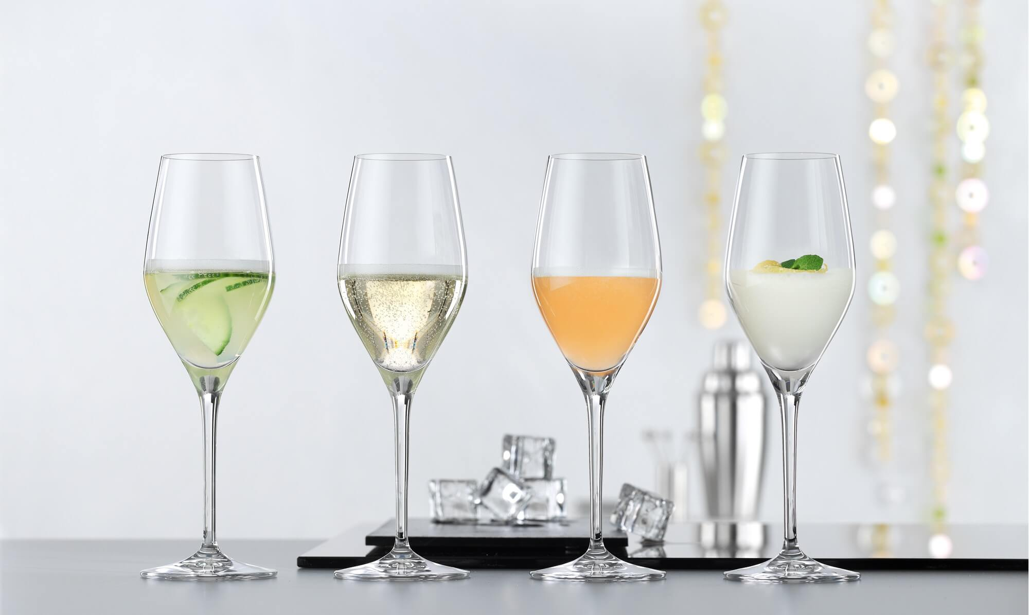 Set of 4 prosecco glasses