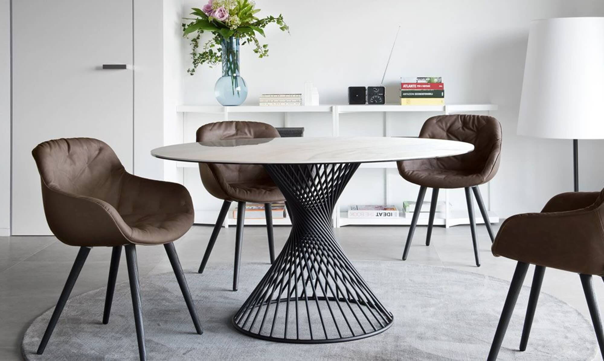 round dining table at Fishpools