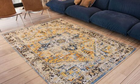 Light printed rug perfect for summer