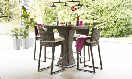 Sustainable rattan furniture with garden set from Fishpools