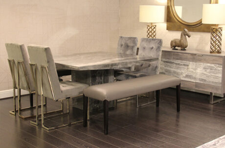 Modern dining furniture with bench