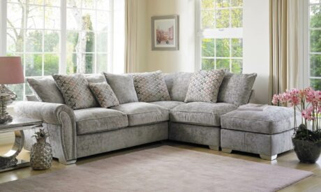 Textured fabric option in living room