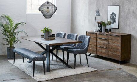 Copeland velvet dining set