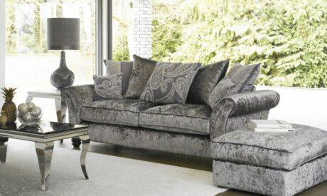 Hollywood three seater velvet sofa