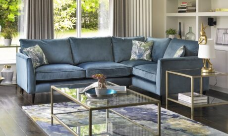 Luxe velvet corner sofa
