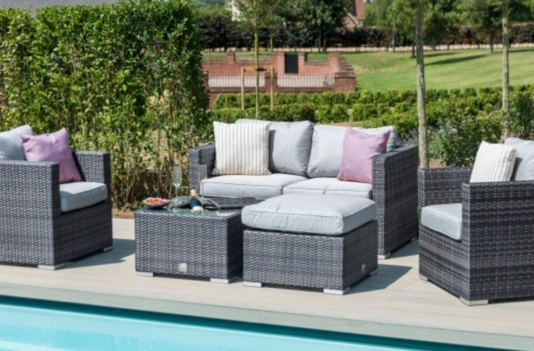 Cocoa Beach rattan garden seating set
