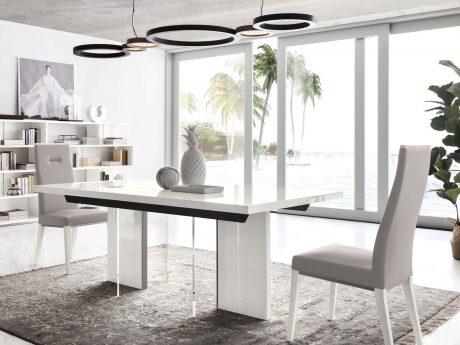 Polar extending dining table