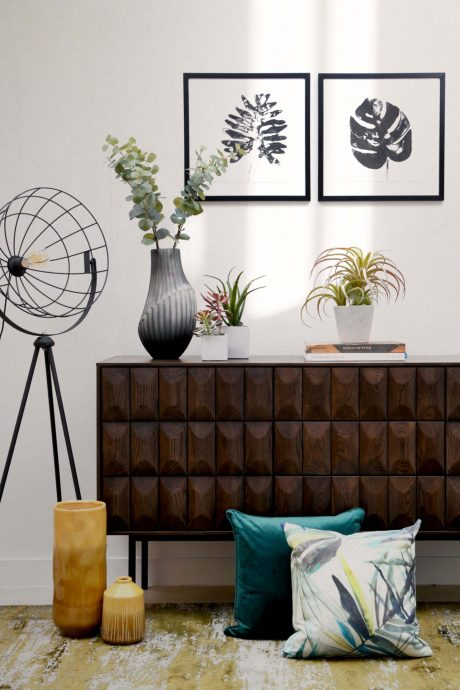 Sideboard with home accessories