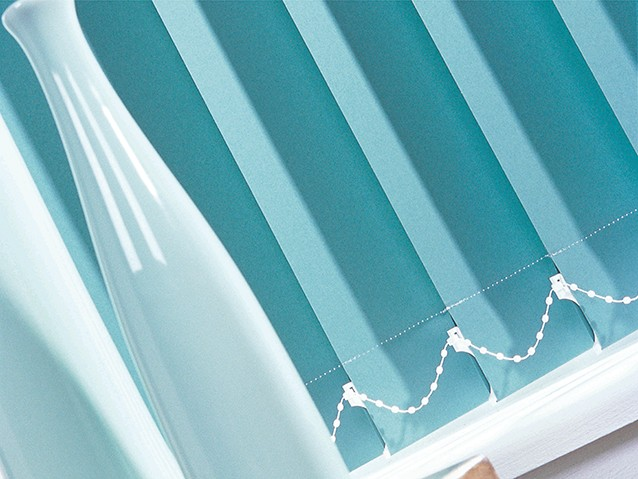 Vertical blinds in store