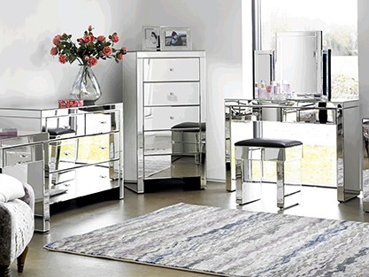 All mirrored furniture