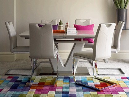 EXPLOREALL HIGH GLOSS DINING TABLE SETS