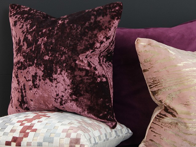 Purple & pink cushions