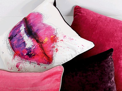 all purple, pink & fuchsia cushions