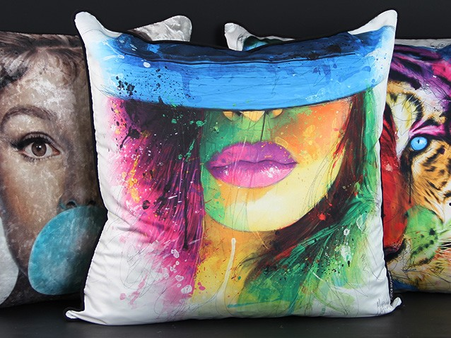Multi colour cushion