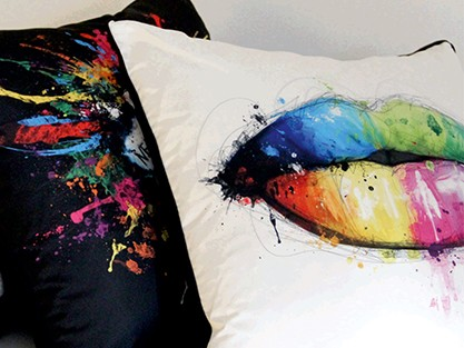 all multi colour cushion