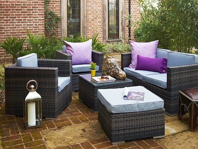 EXPLOREALL RATTAN SOFA SETS