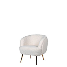 Accent Chair In Velvet 321 AP Apricot - Lottie
