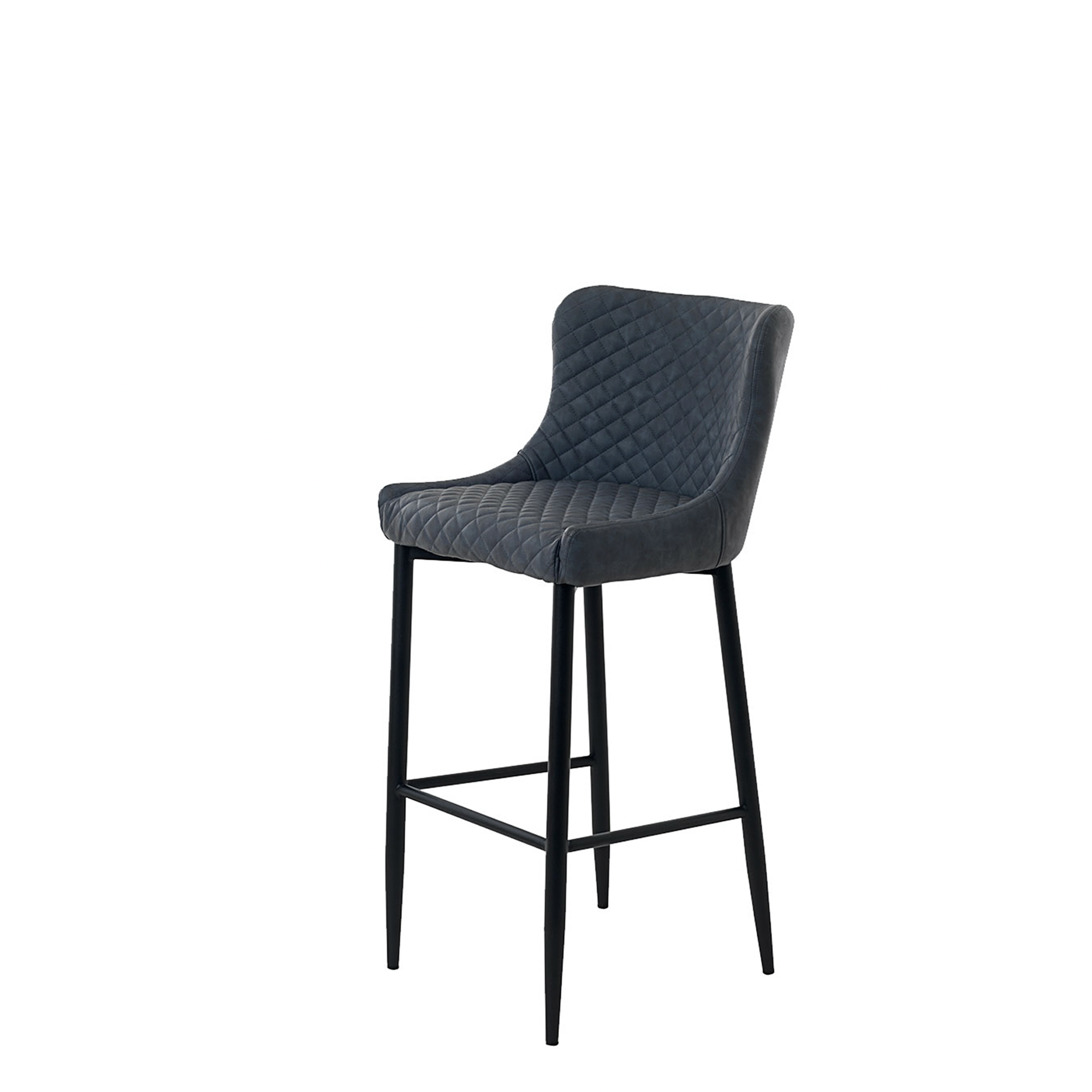 Copeland - Barstool Grey PU With Black Metal legs