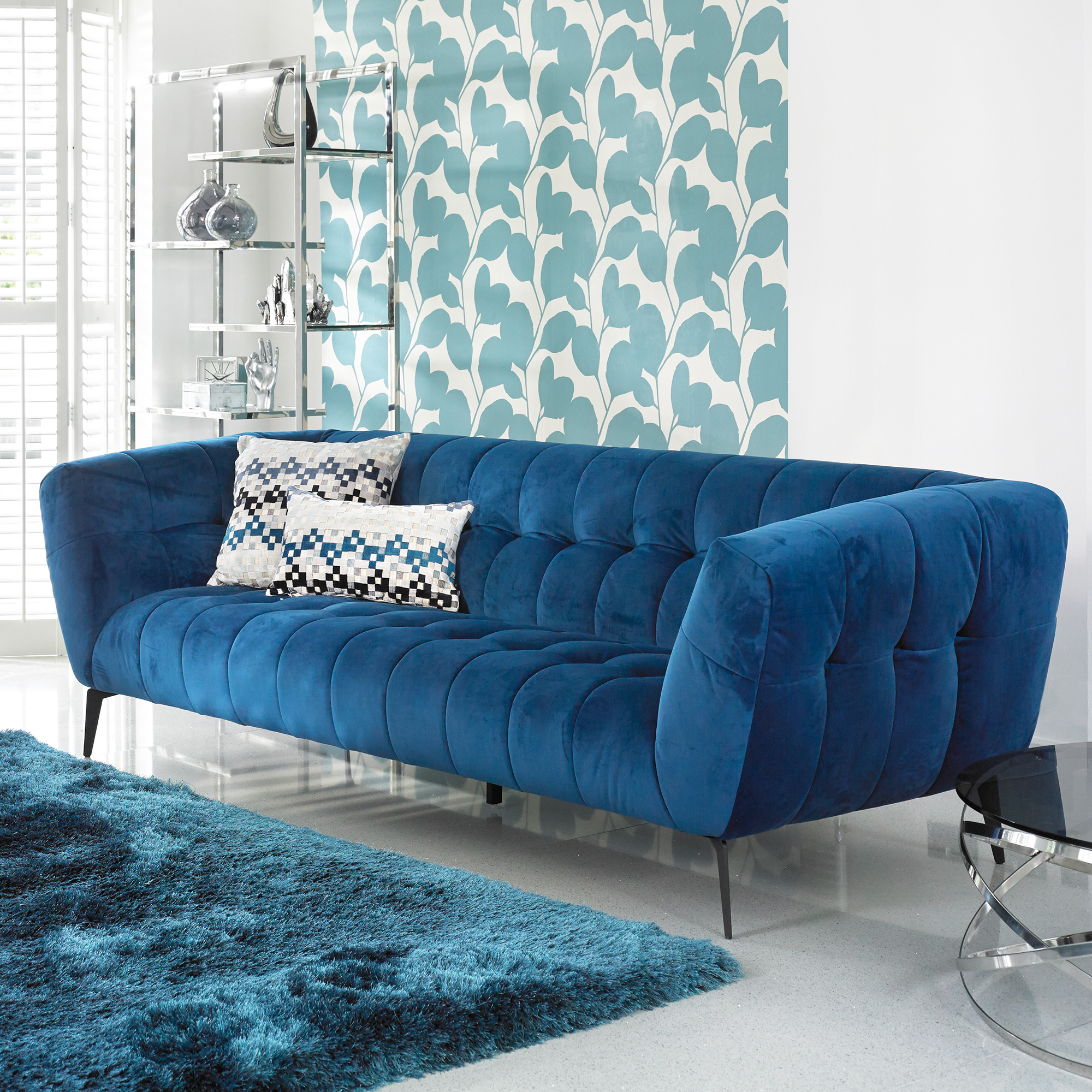 Vincenzo - 3 Seat Sofa In Grade BSF20 Fabric TX1226 Teal