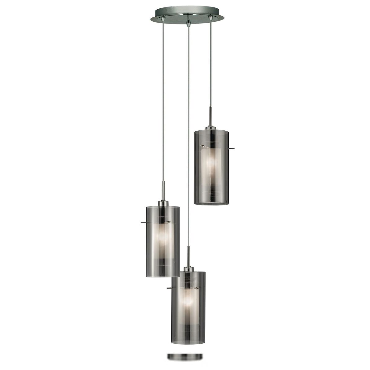 Smoke 3 Light Cluster Pendant Ceiling Lights Fishpools