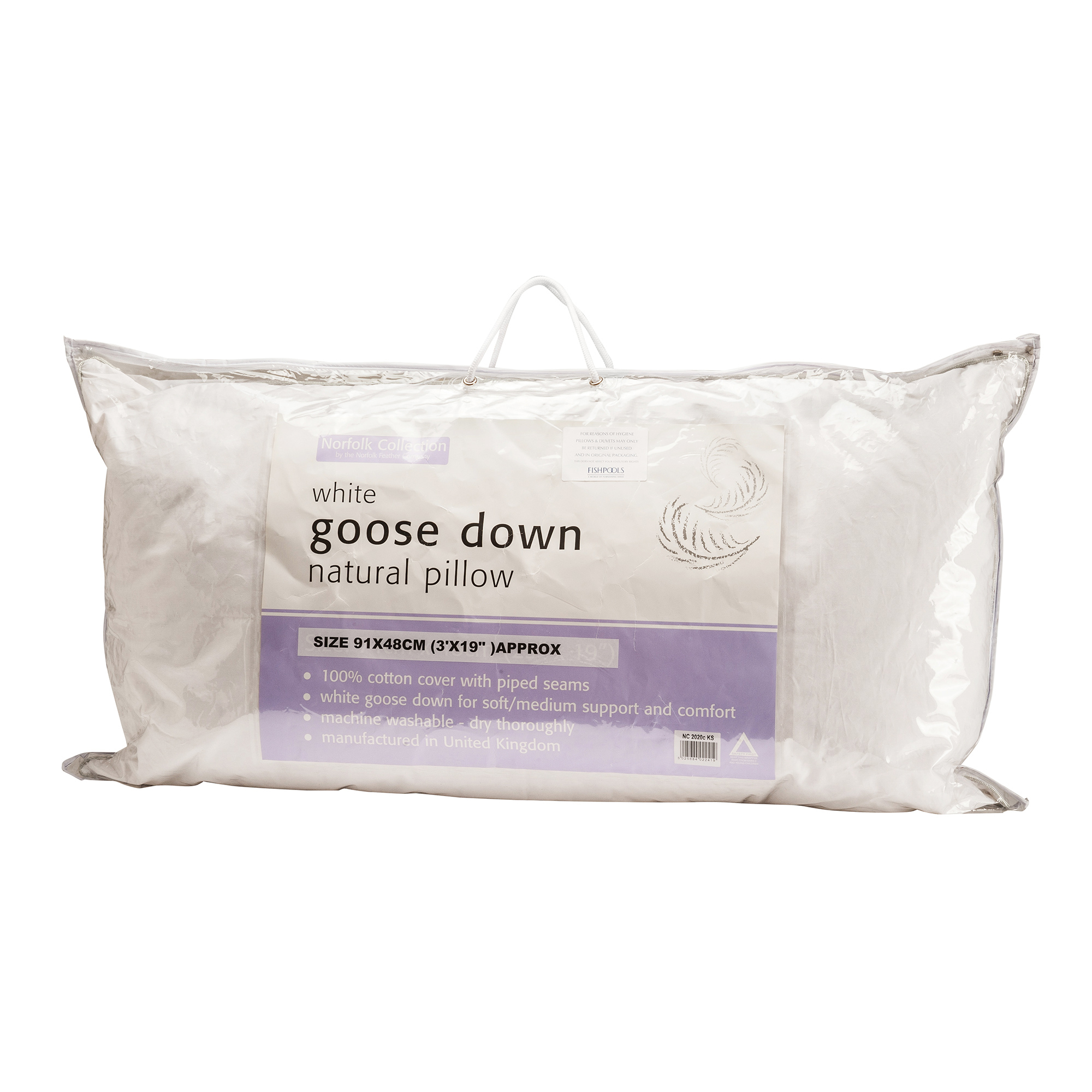 Goose Down Throw Pillows : European Goose Down Pillow King - Pillows - Fishpools
