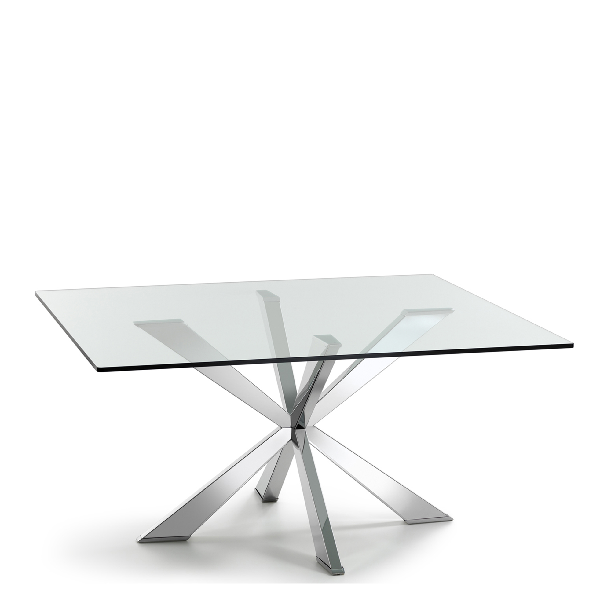 Cattelan Square Glass Dining Table Fishpools