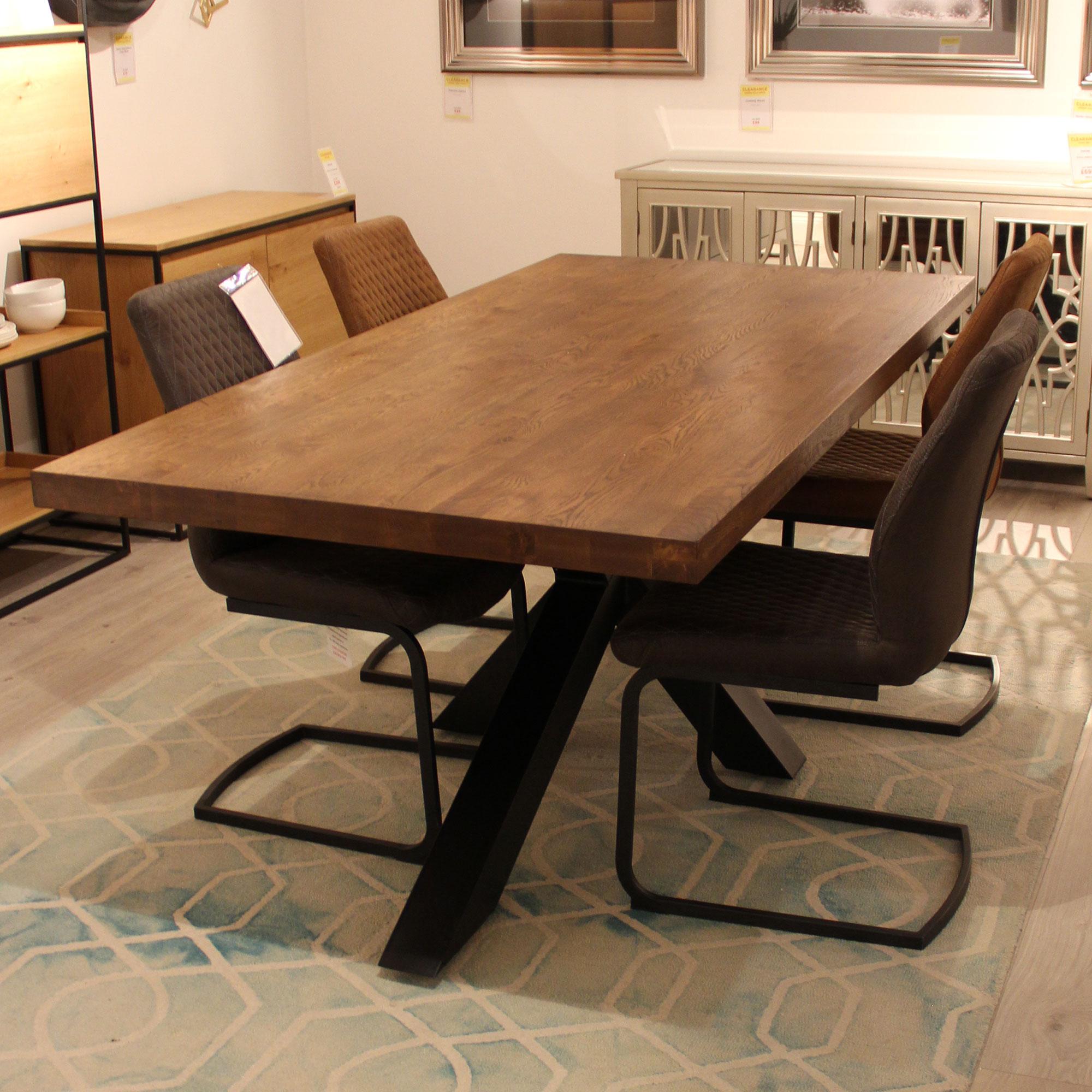 Santana 200cm Solid Oak Dining Table Fishpools