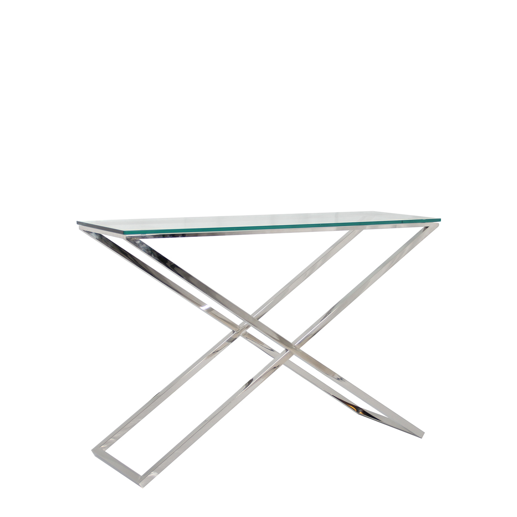 Picture of: Trento Glass And Metal Console Tables Fishpools