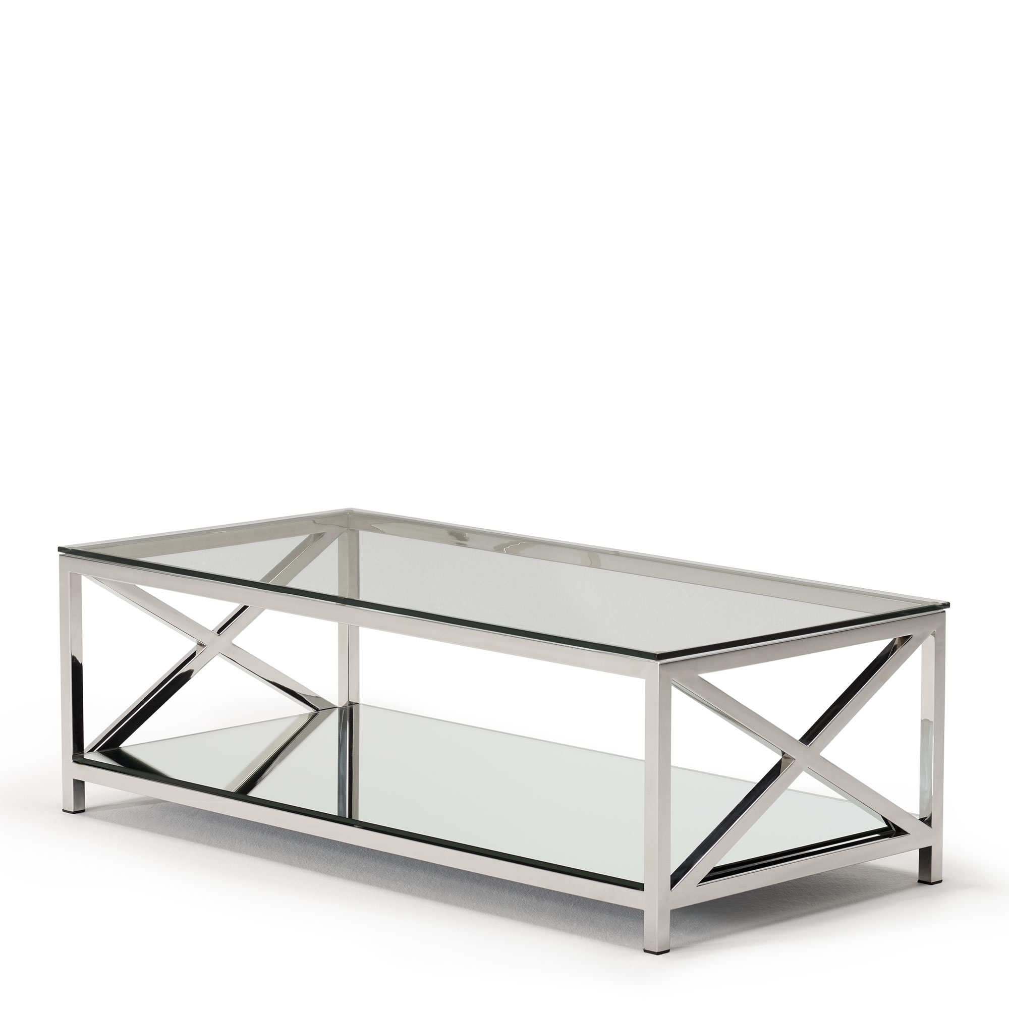 Lucia Coffee Table With Glass Top Stainless Steel Frame Occasional Tables Fishpools