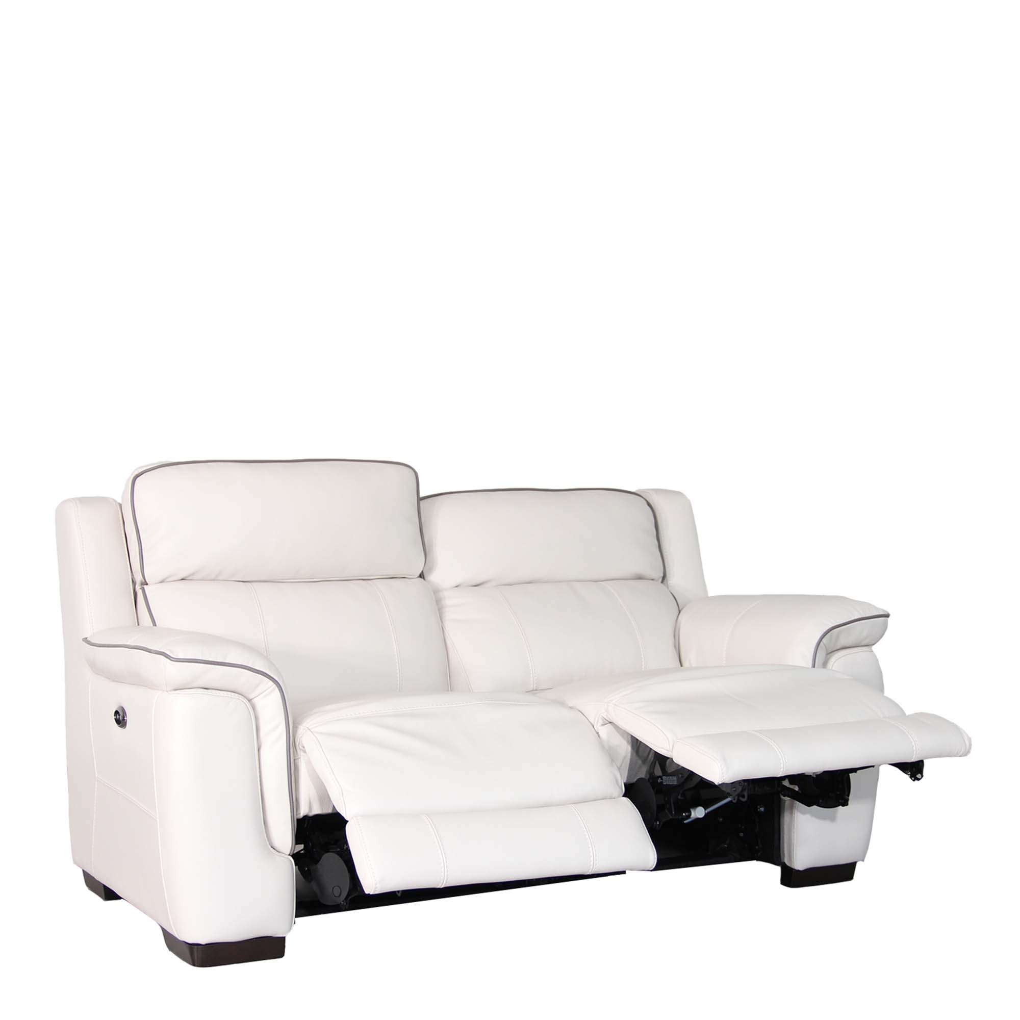 Monza Leather 2 Seat Sofa With Double Power Recliner