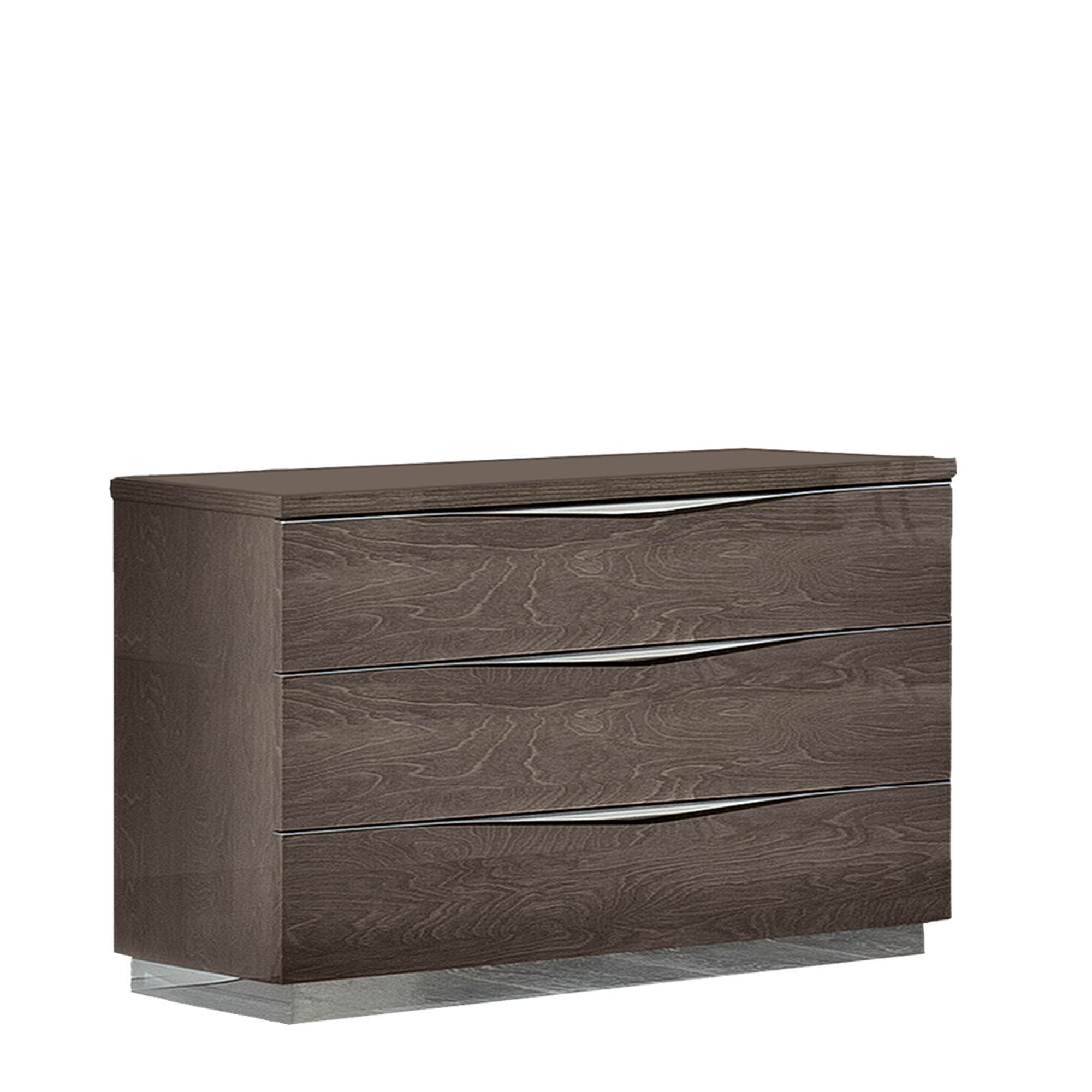 Treviso Chest Of 3 Drawers Silver Grey Bedroom Chests Fishpools