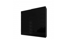 Malmo - 160cm Gliding Door Wardrobe Black Gloss/Matt