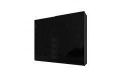 Malmo - 200cm Gliding Door Wardrobe Black Gloss/Matt