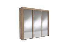 Ascot - 225cm 3 Door Mirrored Sliding Wardrobe