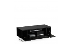 Omega - Chromium TV Unit Black High Gloss Open