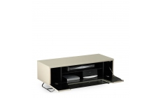 Omega - Chromium TV Unit Ivory High Gloss Open
