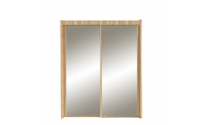 Ascot - 201cm 2 Door Sliding Wardrobe In Sonoma Oak Finish