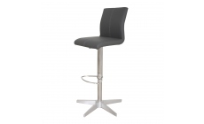 Sydney - Adjustable Bar Stool With Frame X In Grey Faux Leather