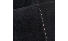 Crystal Row Bath Sheet Black