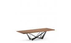 Cattelan Skorpio Wood - 300x100x75h Dining Table With Canaletto Walnut Top