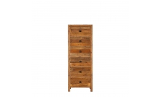 Delta - 6 Drawer Tallboy Reclaimed Timber