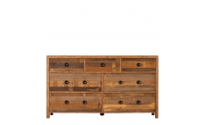 Delta - 7 Drawer Wide Chest Reclaimed Timber