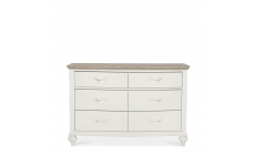 Lausanne - 6 Drawer Wide Chest - Grey Washed Oak & Soft Grey