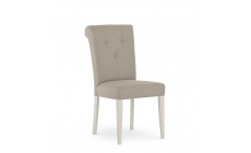 Chateau - Upholstered Bonded Leather Chair In Soft Grey