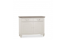 Chateau - Narrow Sideboard In Grey Washed Oak & Soft Grey