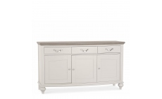 Chateau - Wide Sideboard In Grey Washed Oak & Soft Grey