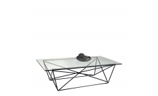 Atlas - Coffee Table Black/Glass Finish