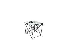 Atlas - Lamp Table Black/Glass Finish