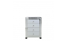 Madison - 4 Drawer Cabinet White Clear & Mirror Finish