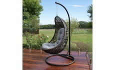 Trinidad - Hanging Chair Grey Rattan